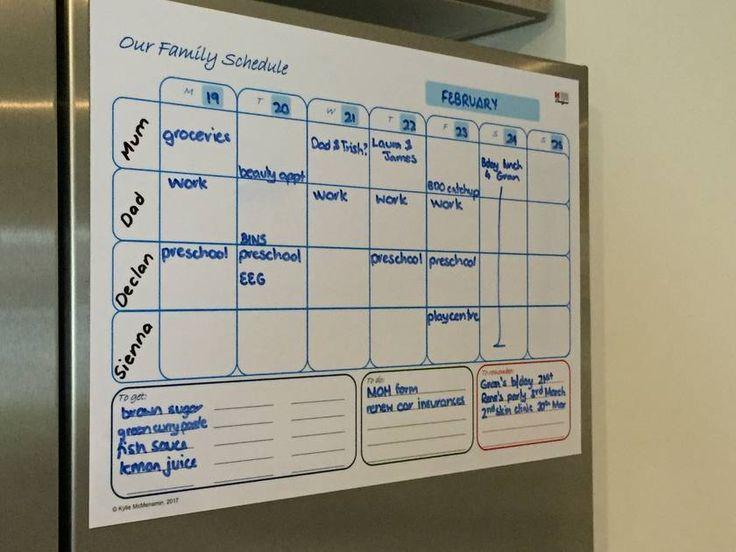 A3 Family Planner whiteboard) Kinderen schema