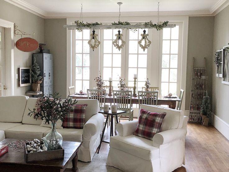 A farmhouse Christmas with Hobby Lobby. Learn how to decorate with a budget. @HobbyLobby #HobbyLobbyFinds #HobbyLobbyHoliday #ad