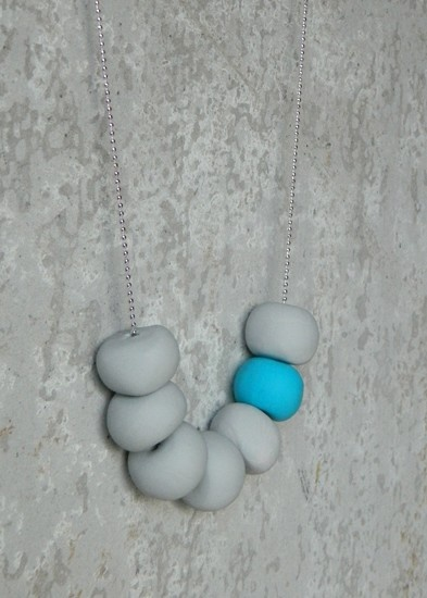 Polymer Clay Bead Necklace - by ColourMenagerie on madeit