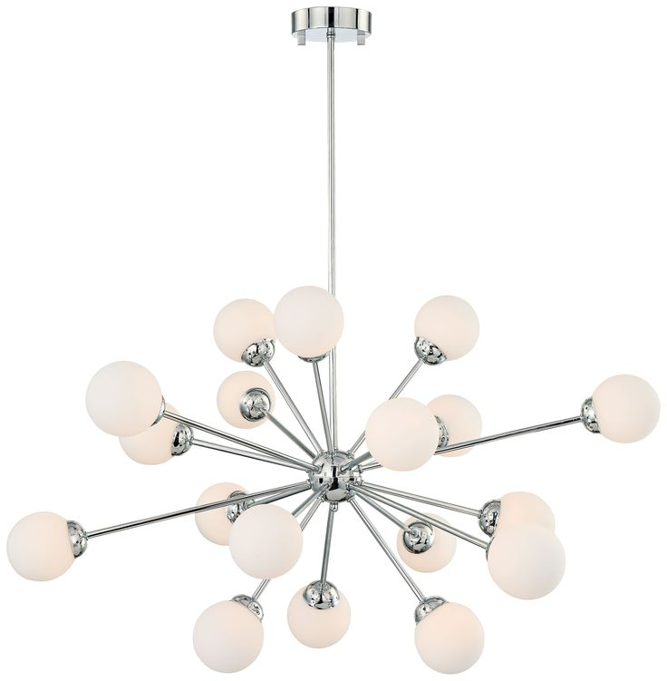 Delightful OPAL GLASS 37 INCH W POSSINI EURO DESIGN PENDANT Small Spheres Of Light  Burst Gallery