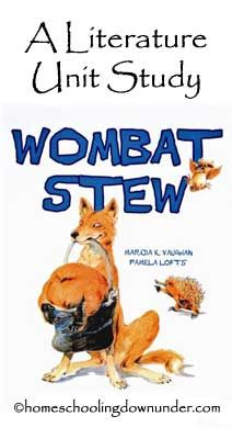 Wombat Stew: Ideas for different uses of the book across other subjects (english, art, science, technology).