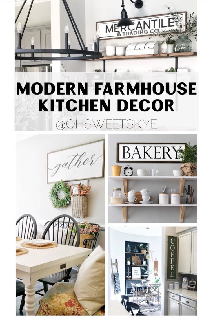 Modern Rustic Interior Farmhouse Kitchen Wall Decor Ideas