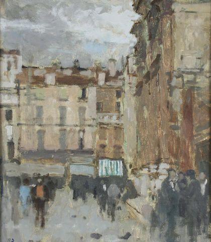 Bernard Dunstan - Vicenza Piazza dei Signori after rain
