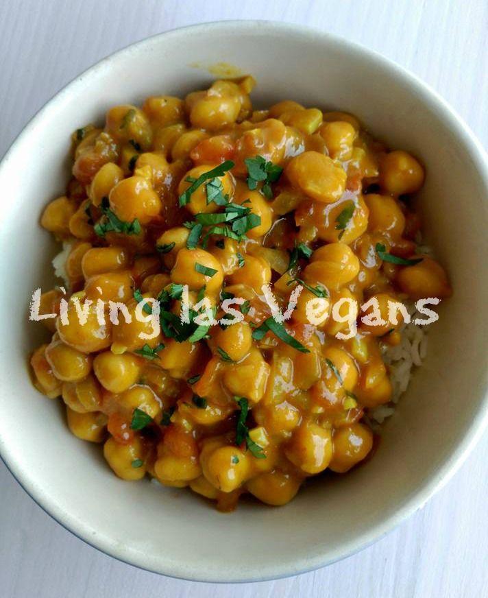Curry de garbanzos - Living las Vegans