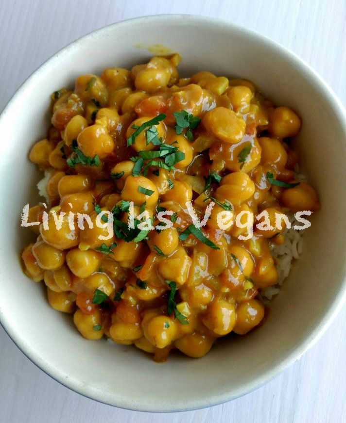 Curry de garbanzos - Living las Vegans