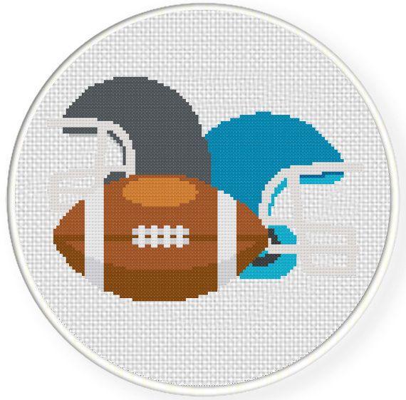USA Football  Modern Cross stitch pattern PDF - Instant download