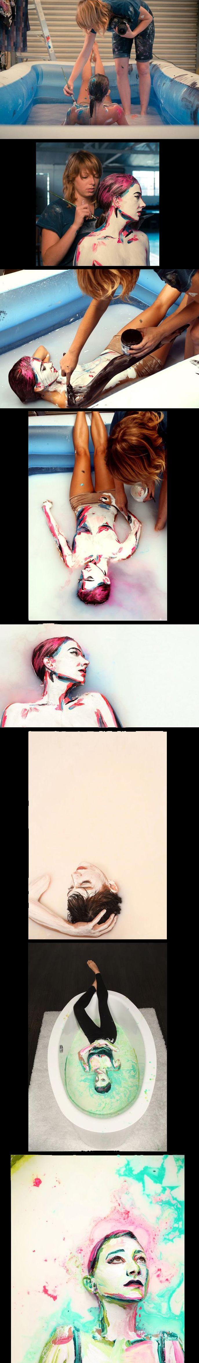 Human watercolor portraits: