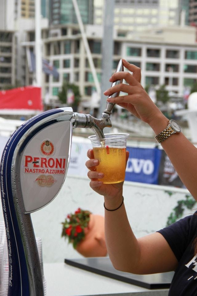 Ice cold Peroni Draught..mmm