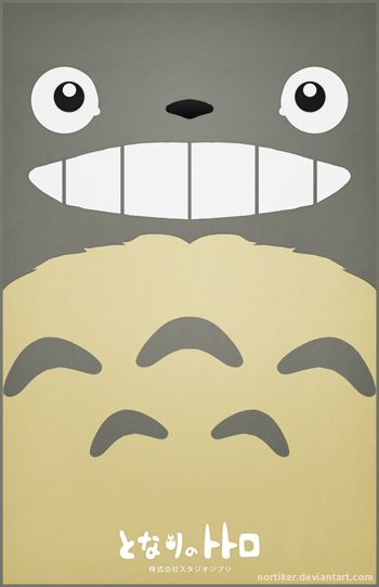 Totoro Poster - Smiling by ~Nortiker on deviantART