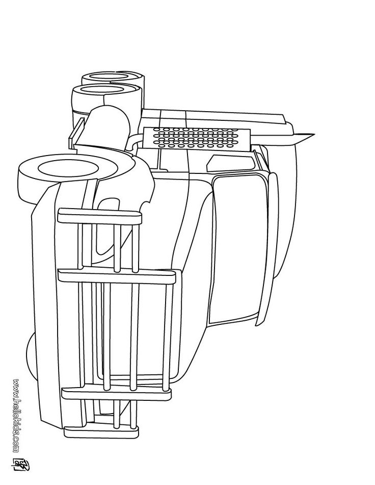 large truck coloring page