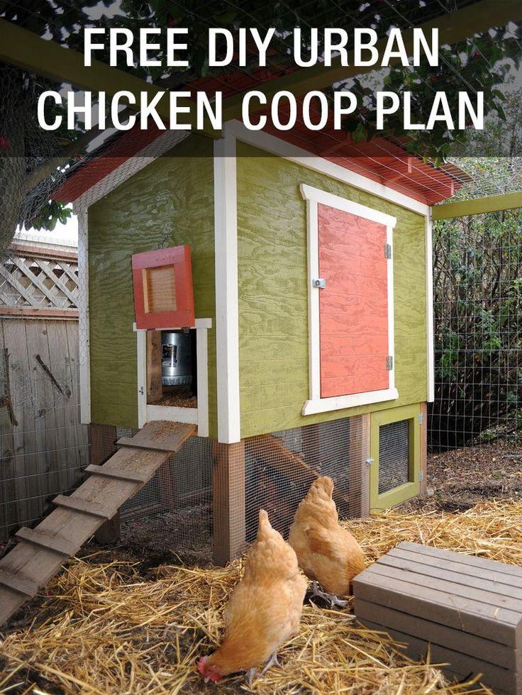 FREE DIY Urban Chicken Coop Plan: http://www.mychickencoop.net/free-diy-urban-chicken-coop-plan/ #chicken #coop #plan #free #diy