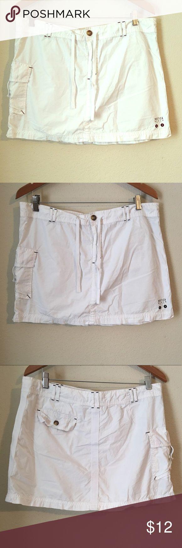 Náutica White skirt Náutica• Sz 14• white skirt• with pockets• so pretty• náutica beach Nautica Skirts