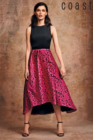 Buy Coast Roccabella Pink Printed Dress from the Next UK online shop