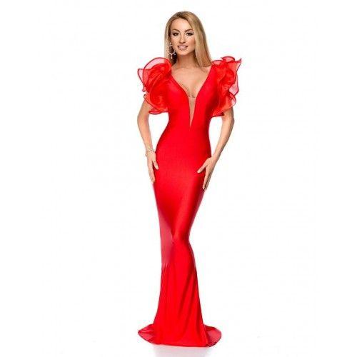 Rochie lunga cu spatele gol, model sirena! #ifashion #BBY #fashion