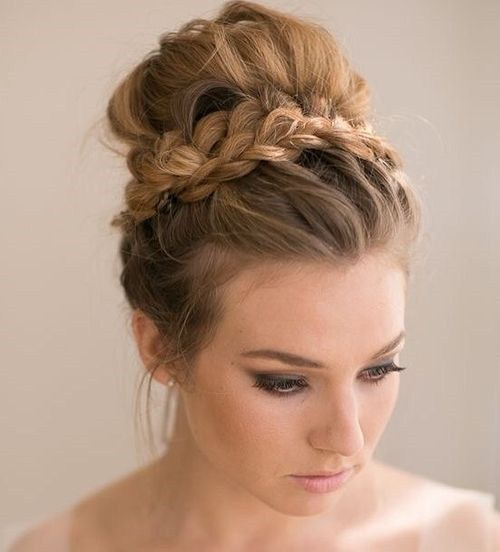 cute girls hair styles com best 25 bun with braid ideas on ballet nails 4785 | 1010a2b3effa686c12b8fab5a16a4351 braided bun updo prom bridesmaid hairstyles for long hair updo