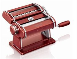 Christmas Gift Ideas -  homemade pasta - Pasta & Pizza»Pasta Machine Atlas Wellness 150 Red -Chef's Complements