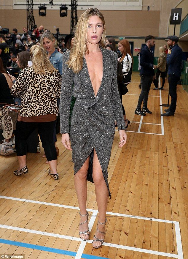 Abbey Clancy, who is married to footballer Peter Crouch, turned heads at London Fashion Week