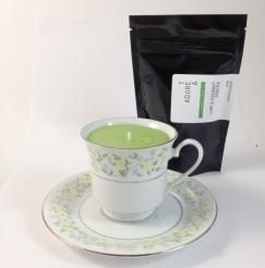 Teacup Candle. Lime & Coconut Infused.142  I am hand made with 100% SOY wax. My cup has been recycled / re-used / re-loved / re-newed / TEA-incarnated as a beautiful tea cup candle infused just for you. Included with me is a 50g bag of Tea