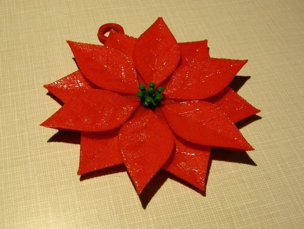 Designed to print without support. This ornament would look great anywhere; a Christmas tree, a window, a bulletin board. Approximately 105mm in diameter.   See instructions....