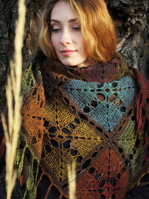Divinos mantones el complemento ideal para la estación del frío con lana matizada y un gancho 1,75mm o 2,00mm