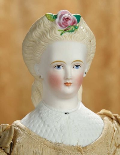 A Matter of Circumstance: 163 German Bisque Doll with Fancily Decorated Hair and Scalloped Bodice