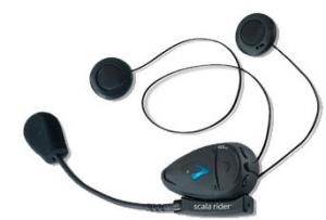 SCALA RIDER Q2 PRO HEADSET. Single unit wireless connection to all of your blue tooth devices