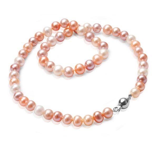 Srebrny długi naszyjnik z pereł - Biżuteria srebrna dla każdego tania w sklepie internetowym Silvea