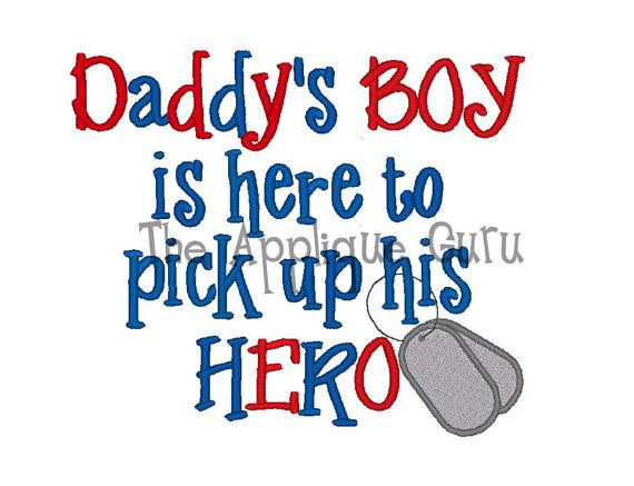 Daddy's Boy is here to pick up his HERO    Machine by AppliqueGuru, $3.99. www.appliqueguru.com
