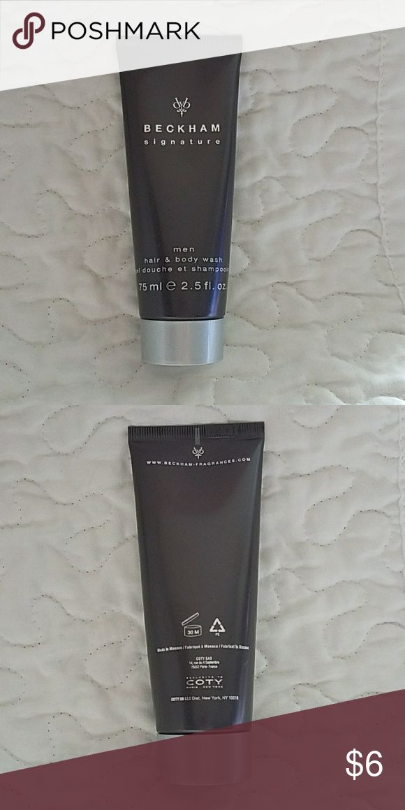Beckham signature men hair & body wash 2.5 fl oz New... never opened. Bundle to save on shipping. Beckham Accessories