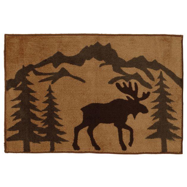 Moose Silhouette Kitchen/Bath Rug