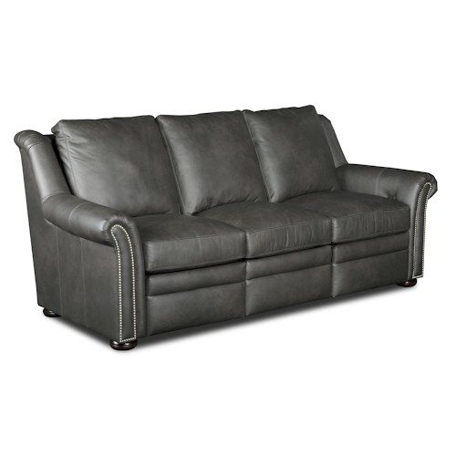 Dark Grey Leather Sofa. Bradington Young Newman Transitional Power Reclining Sofa with Nailheads  sc 1 st  Pinterest & Best 25+ Grey reclining sofa ideas on Pinterest | Cream downstairs ... islam-shia.org