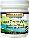 Organic Aqua Greens - Spirulina & Chlorella  READ MORE: www.prairienaturals.ca