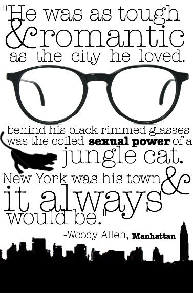 "Woody Allen's Manhattan is my favorite of his and I have ALL his movies and worship them.  All except ""Midnight in Paris.""  What happened there?"