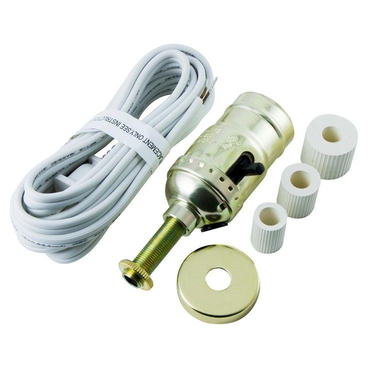 GE Bottle Lamp Kit Cord, White- home depot