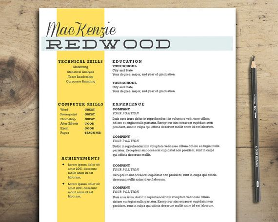 13 best Resume images on Pinterest Resume design, Design resume - card template for word