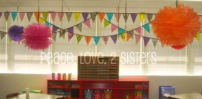 Fabulous Pennant Project @ Peace, Love, 2 Sisters: Show and Tell Monday- DIY Pennant String