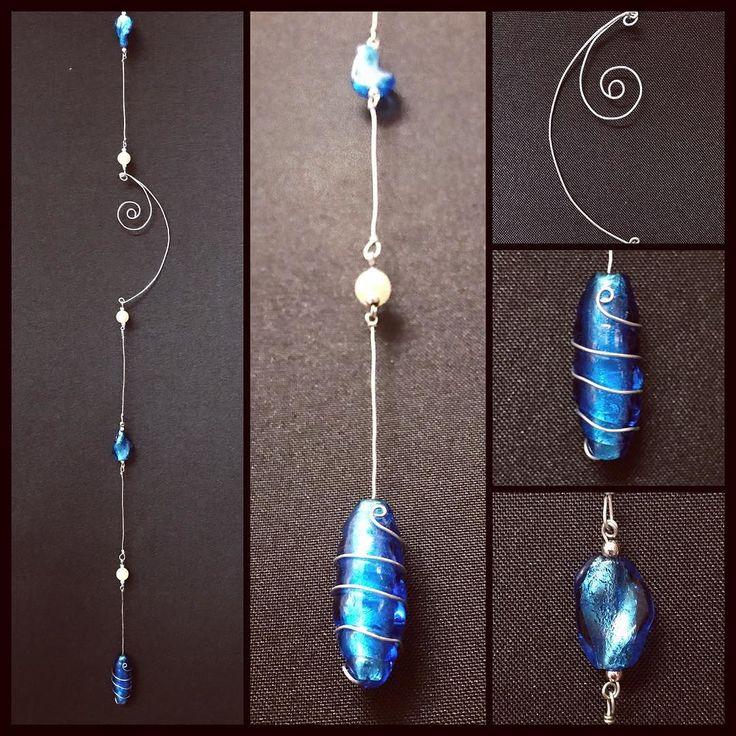 Handmade Suncatcher now available!! Stunning blue glass beads! Beautiful curling wire! #torileydesigns #beautiful #handmade #available #blue #beads #wire #curly #unique #stunning #statement #suncatcher http://ift.tt/2rLdB4E