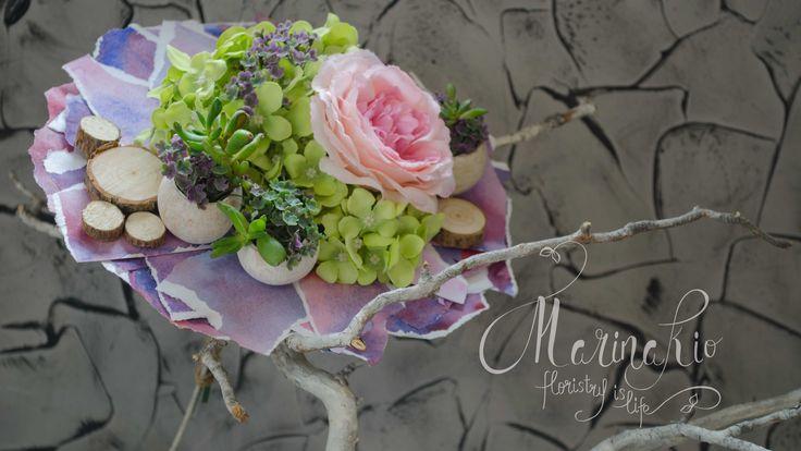 Флористика Как сделать каркас для букета # 5 (Мастер класс) Floristic Ho...