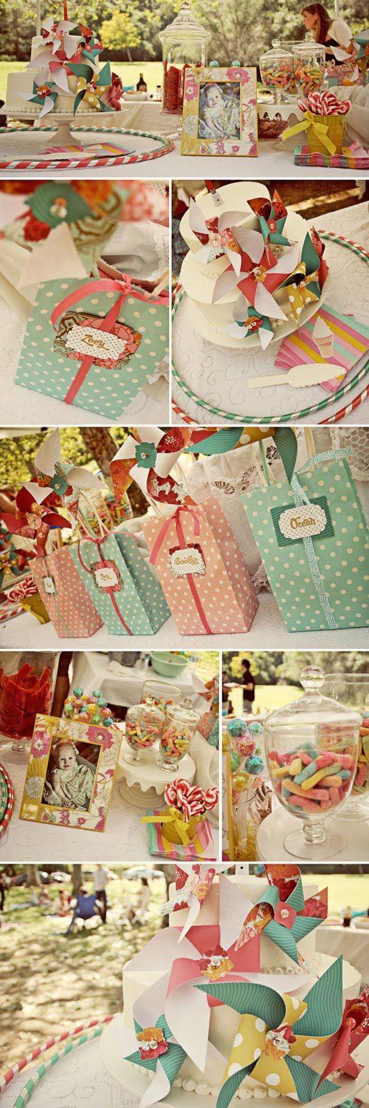 Vintage pinwheel party details.. gorgeous!