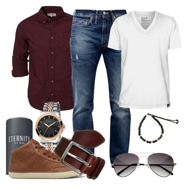 Granet and jeans by marta cercols on polyvore featuring for Mens dress shirts fashion