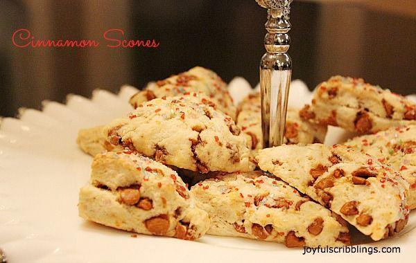 My most requested recipe.  Cinnamon Chip scones @joyfulscribblings.com #scones #Christmas