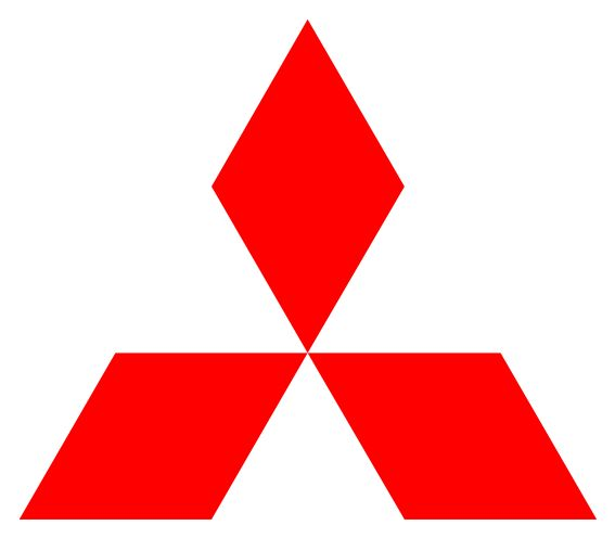"The Mitsubishi logo reflects the company's name. ""Mitsu"" is Japanese for ""three"", while ""hishi""/""bishi"" means ""water chestnut"" and is part of the Japanese word for a diamond shape. The family crest of the company's founder, Yataro Iwasaki, consists of 3 rhombuses piled on top of one another. In the Mitsubishi logo, they have been rearranged into a triangle shape to recall the three-leafed family crest of the lords of Iwasaki's home town, Tosa."