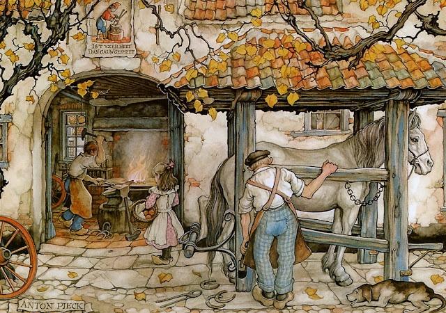 Anton Pieck, Dutch artist.