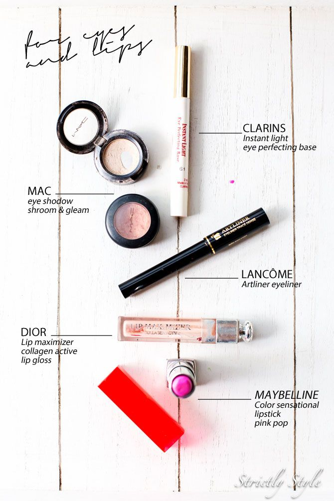 My alltime favourite eye and lip make-up products
