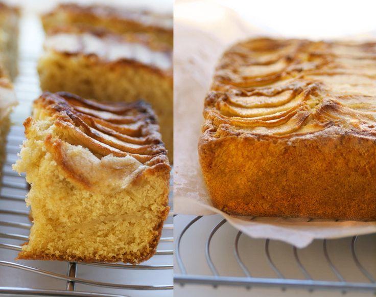 Traditional English Apple Traybake - Apple Pudding Cake
