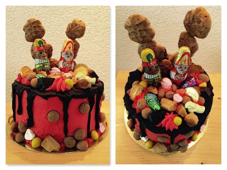 Een leuke Sinterklaas drip taart voor 5 december! Met lekkere pepernoten, schuimpjes en taai-taai! Heerlijk! A lovely Sinterklaas dripcake with delicious dutch treats like, pepernoten, taai en schuimpjes... Kidsparty of the year in Holland!
