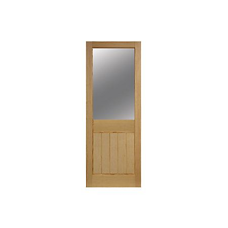 Cottage 2 Panel Internal Clear Pine Glazed Door, (H)1981mm (W)762mm | Departments | DIY at B&Q