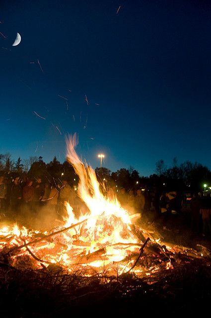 Valborg, the celebration on the 30th April of spring and upcoming summer, Sweden
