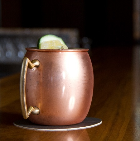 Stonehill Tavern's glorious Moscow Mule served in a chilled copper mug.  Muddled cucumber+ginger beer+candied ginger+fresh lime juice. So good.: Chill Copper, Beer Candy Gingers Fresh, Glorious Moscow, Gingerfresh Limes, Muddl Cucumber Ging, Limes Juice, Gingers Fresh Limes, Cucumber Ging Beer Candy, Moscow Mule