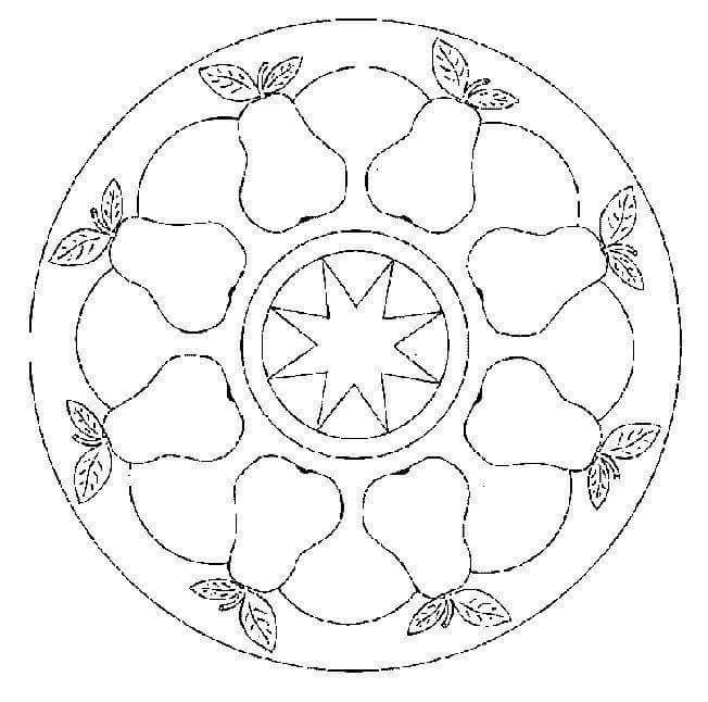Sonbahar Mevsimi Mandala Etkinlikleri Boyama Sayfalari Mandala